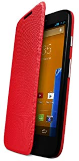 Motorola Flip Shell Hülle Case Cover für Moto G Smartphone - Rot (B00G3P7K40)   Amazon price tracker / tracking, Amazon price history charts, Amazon price watches, Amazon price drop alerts