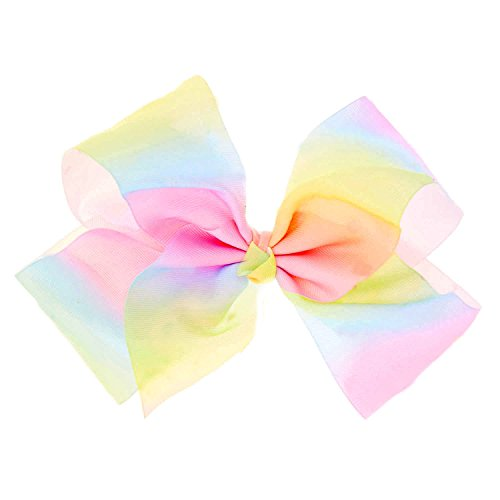 "TBO 8"" Huge Big Rainbow Hair Bows 20CM High Quality Handmade Colorful Rainbow Grosgrain Ribbons | Durable Metal Alligator Clip Girls, Women, Babies, Newborns Test"