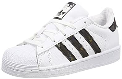 adidas Superstar, Sneakers Basses Mixte Enfant, Blanc (Footwear White/Core Black/Footwear White), 29 EU