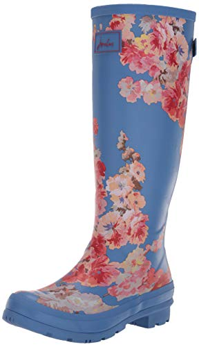 Joules Welly Print, Damen Gummistiefel, Blau (Blue Floral Bluflrl), 36 EU (3 UK)