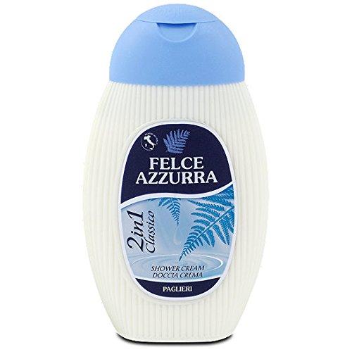 Azzurra Paglieri, Felce Azzurra, Crème nettoyante pour la Douche combiné avec une Lotion por le Corps , 2 in 1, 250 ml