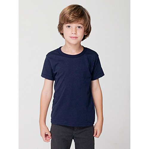 American Apparel Kinder Kurzarm T-Shirt Unifarben (6 Jahre) (Marineblau) (American Apparel Kinder T-shirt)