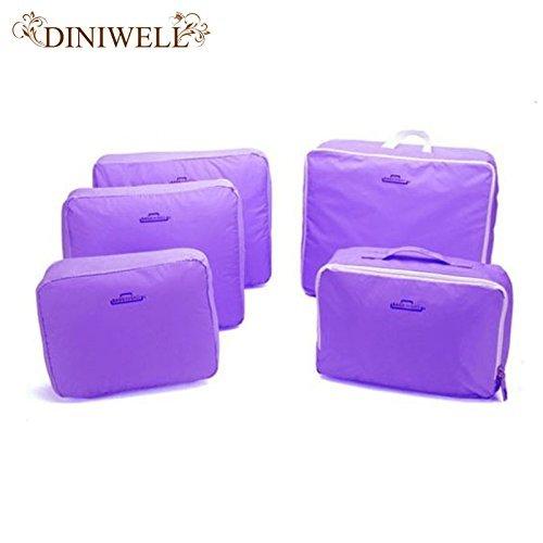 Generic Grau: Multifunktional tragbar Reise Gepäck Koffer Kleidung Unterwäsche Verpackung Cubes Organizer Container Storage Bag Pouch