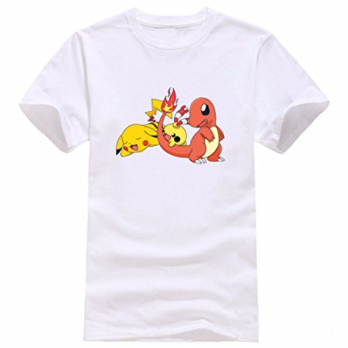 Men's Pokemon Printed Cotton Short Sleeve Tee Shirt 4