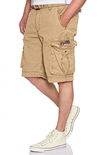 JET LAG Take off 8 Cargo Shorts mit Gürtel in fünf verschiedenen Farben Beige