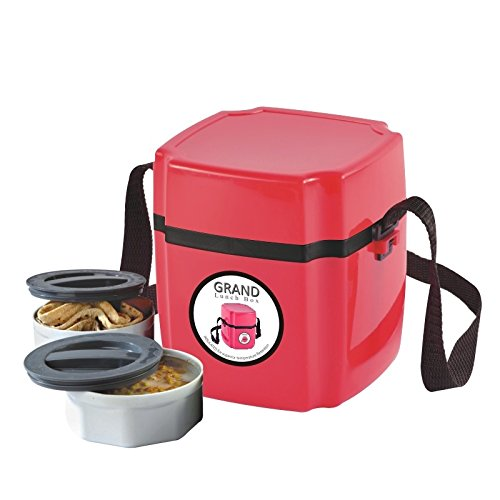 Go Hooked 2 Containers Lunch Box  RED