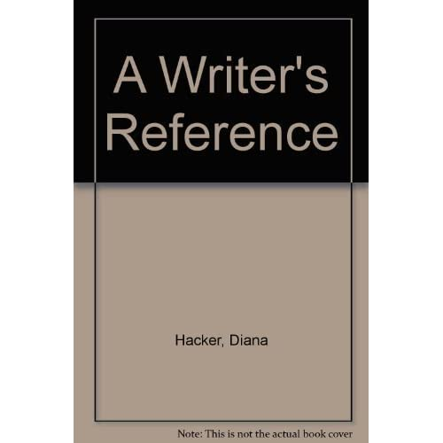 Writer's Reference 6e & APA Quick Reference Card 6th edition by Hacker, Diana, Fister, Barbara (2006) Paperback