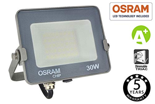 FactorLED Foco Proyector LED 30W Avance SMD con Chip OSRAM de Exterior,...