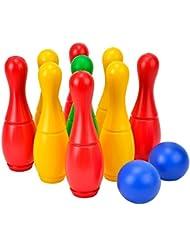 set bowling 9 grandes quilles et 2 boules