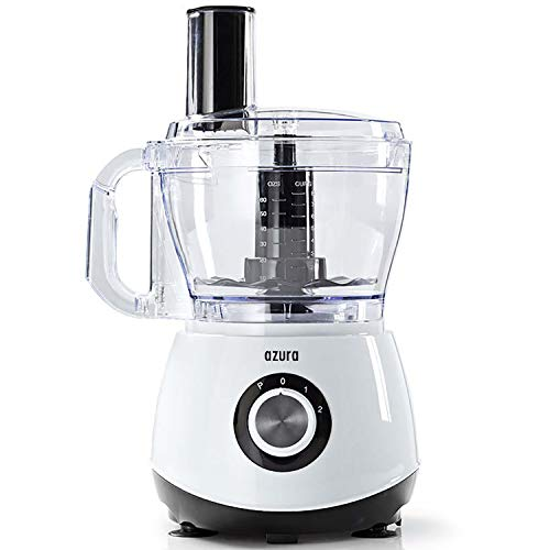 Food Processor, Küchenmaschine 800 Watt 2 Liter Behälter - BPA frei - inkl. Standmixer, Kaffeemühle, Spiralschneider, Zerkleinerer, Mixer