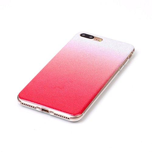 TPU Luxus Glitzer Case Cover iPhone 7 Plus (5.5 Zoll) Hülle mit Kratzfeste Stoßdämpfende Strass Shining Sparkle Schutzhülle Ultra Thin Light Kristall Schutz Matt Schale Bumper für Apple iPhone 7 Plus  2