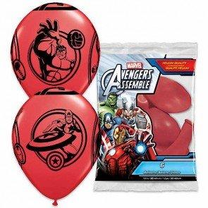 Unbekannt Qualatex Ballons Latex 19226Marvel Avengers Rund, Rot, 12Zoll