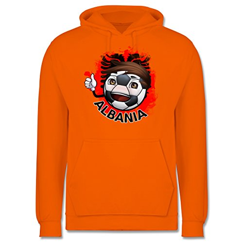 EM 2016 - Frankreich - Fußballjunge Albanien - Männer Premium Kapuzenpullover / Hoodie Orange
