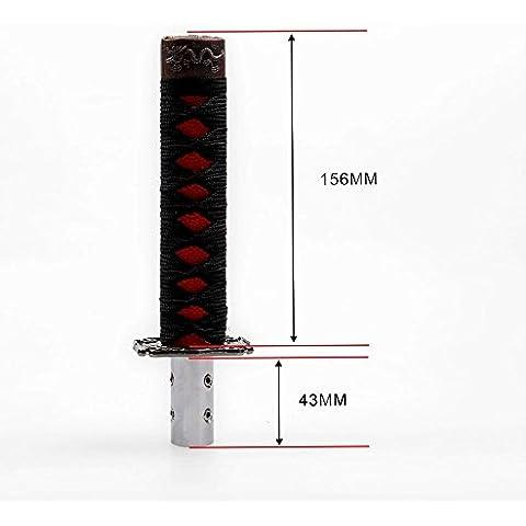 Generic auto accessori Katana Samurai Spada corta Pomello del cambio Pomello del cambio con foro di 12mm con 4Adattatore universale per auto