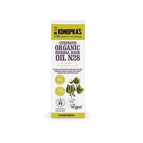DR KONOPKA'S - Huile Capillaire aux Herbes n. 28 - Action renforçante - Contre la perte de cheveux et donnant de l'épaisseur - Ingrédients 100% naturels - Vegan - 30 ml