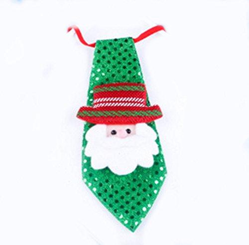 der Fliege Krawatte Weihnachtsmann Dreidimensionale Muster Weihnachtsdekoration Weihnachten Deko Geschenk (A) (Schneemann Kostüm Kind Uk)