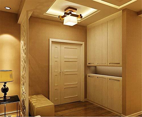 Plafoniere Legno E Vetro : Plafoniera moderna e27 in legno e vetro minimalista ideale per