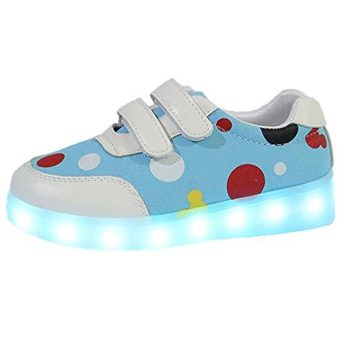Rokoy Bambini Luminosi Sneakers/Luci Colorate Scarpe Flash Scarpe Sportive - Natale Running Sneakers Traspirante Basso Ultraleggero Sport Baskets Shoes Stivaletto Unisex(30,Blu)