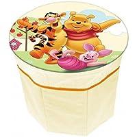 Preisvergleich für Disney Winnie the Pooh Kinderhocker mit Staufach - Kindersitz - Hocker
