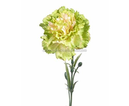 Nelke Blatt (Kunstblume Nelke, gelbe Blüte und grüne Blätter, 60cm - Kunstpflanze künstliche Blumen Kunstblumen Blumensträuße künstlich, Seidenblumen oder Blumen aus Plastik Kunststoff </p> --> großes Kunstblumen Sortiment)
