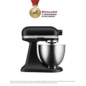KitchenAid Artisan Mini 5KSM3311XBBM 3.3-Litre Stand Mixer (Black Matte)