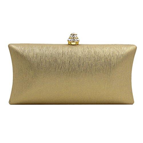 Zhhlaixing bellissime borse Multicolor Evening Party Bags Rhinestones Ornaments Designer Handbags per Donne Gold