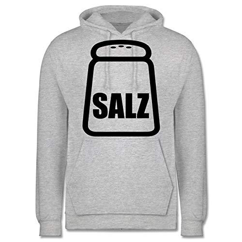 & Fasching - Salz Karneval Kostüm - 4XL - Grau meliert - JH001 - Herren Hoodie ()