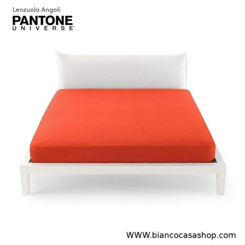 Lenzuolo Sotto con angoli MATRIMONIALE Bassetti PANTONE Universe Var.1151 Fiesta (rosso)