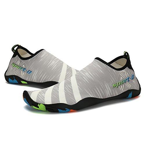 asuge Unisex rapida asciugatura Aqua Water Scarpe Pantofole Grey