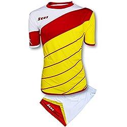 Zeus Kit Lybra Equipaciòn para el Fùtbol y el Voleibol Para Hombre Sport Pegashop Colour Amarillo-Rojo-Blanco (S)
