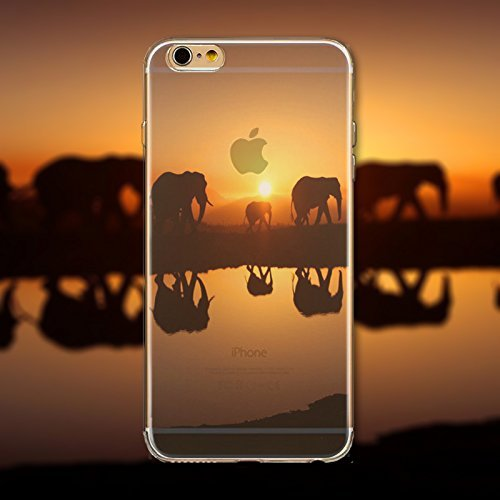 Coque iPhone 5 5s Housse étui-Case Transparent Liquid Crystal en TPU Silicone Clair,Protection Ultra Mince Premium,Coque Prime pour iPhone 5 5s-Paysage-style 5 29