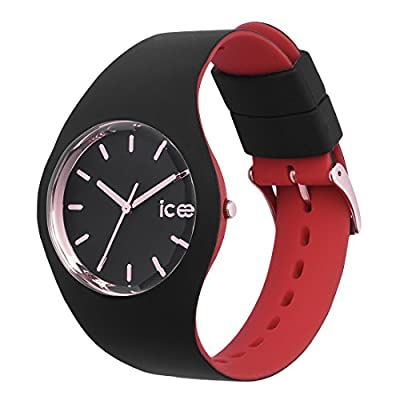 Ice-Watch - Ice Loulou Black Rose Gold - Reloj Negro para Mujer con Correa de Silicone