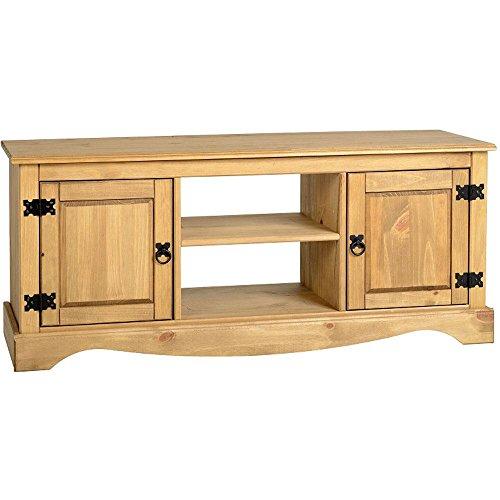 Home Discount Corona 2 Door 1 Shelf Flat Screen TV Entertainment Stand/Unit Cupboard Storage