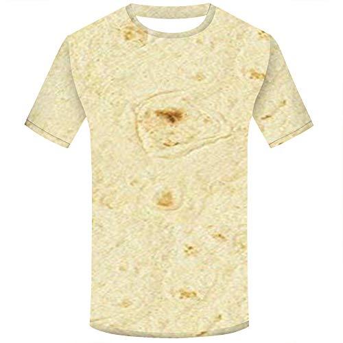 CAOQAO lose beiläufige Weinlese Spitzen Unisex Sommer Plus Size mexikanischen Pfannkuchen Shirt Kurzarm Druck Tops Bluse