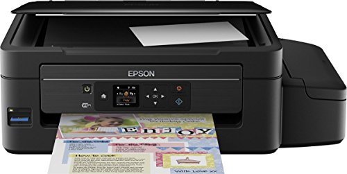 Epson EcoTank ET-2550 3-in-1 Tintenstrahl Multifunktionsgerät (Drucker, Scanner, Kopierer, WiFi, Display, USB 2.0, große Tintenbehälter, hohe Reichweite, niedrige Seitenkosten) schwarz