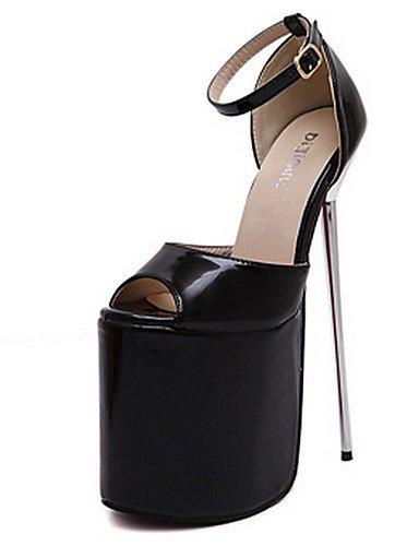 WSS 2016 Chaussures Femme-Habillé / Soirée & Evénement-Noir / Rouge / Argent / Or / Amande-Talon Aiguille-Bout Ouvert / A Plateau / Confort- silver-us8 / eu39 / uk6 / cn39