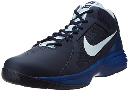 amazon. Nike Men's The Overplay VIII Obsidian,Antarctica,Gym Blue Basketball  Shoes -5.5 UK