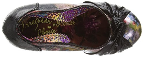 Irregular Choice Smartie Pants, Escarpins femme Black (Black Floral)