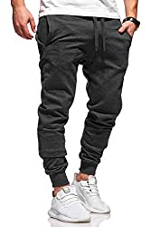 Ombre-Eight Herren Jogginghose Trainingshose Sporthose T-410 [Dunkelgrau, S]