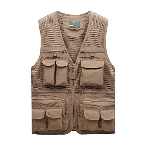 Multi Pockets Angeln Vest,Netz Atmungsaktivität Fotografie Weste 100% Baumwolle Outdoor �