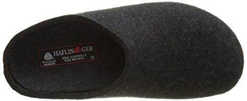 Haflinger Michel, Chaussons mixte adulte Gris (377 Graphit)