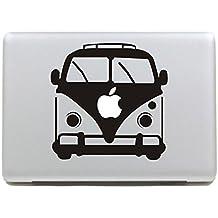 """Vati hojas desprendibles autobús del vinilo de la etiqueta engomada de la piel de Arte Negro para Apple Macbook Pro Aire Mac de 13 pulgadas """"15"""" / 13 Unibody 15 """"pulgadas portátil"""