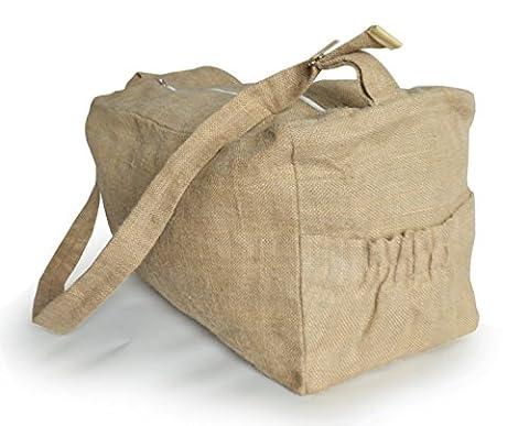 Amore SONP handgefertigt natur Jute Tasche–verstellbarer Riemen Tasche–Reisetasche–Frauen–Big Turnbeutel Turnbeutel