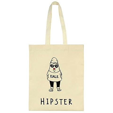 Hipster Loves Kale Canvas Tote Bag