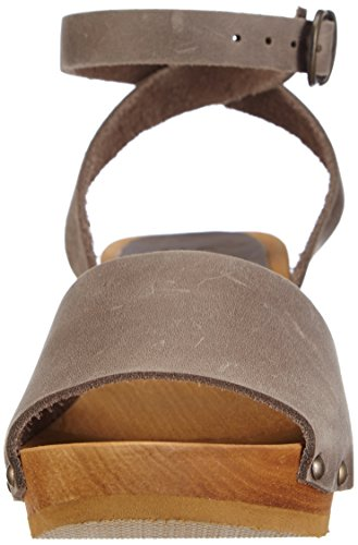 Sanita Wood-Yara Flex Sandal 457357-14, Sandales femme Gris - Grau (grey / 20)