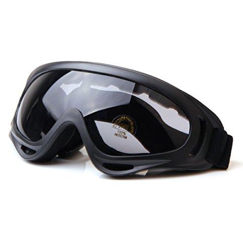 Butterme Außen Jagd Radfahren Skifahren Airsoft X400 Winddicht Staubdicht Schutz taktisch Brille Motorrad Glas Grau (Taktische Gläser)