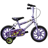 "Townsend Lola Girls' Kids Bike Purple, 8"" inch steel frame, 1 speed puncture-free solid eva tyres adjustable easy-reach levers"