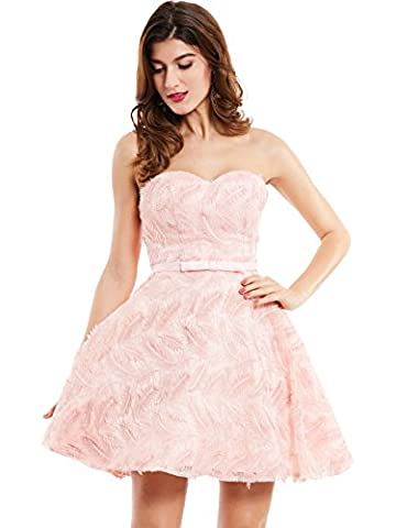 CLOCOLOR Women's Short Evening Dresses A-Line Sweetheart Bridesmaid Gown Dress Sleeveless Formal Dress, UK 12