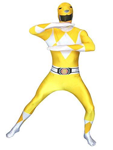 Erwachsene Für Ranger Power Gelber Kostüm - Power Rangers Morphsuit Lizenzware gelb XL