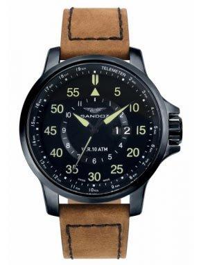 Sandoz 81349-95 Reloj caballero con maquinaria suiza en acero calendar